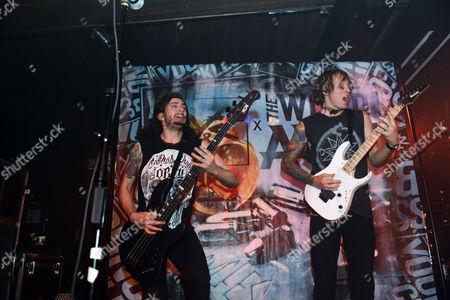 Daniel Shapiro and Zack Hansen of The Word Alive performs, at The Masquerade, in Atlanta