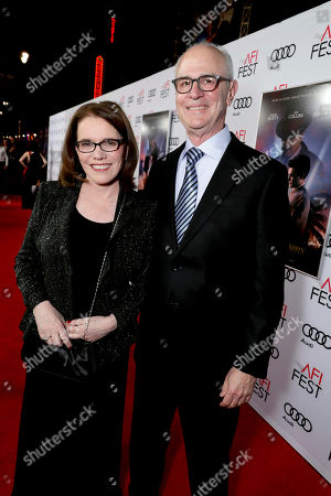 """Stock Photo of Film's Songwriters Lorraine Feather and Eddie Arkin seen at Twentieth Century Fox's """"Rules Don't Apply"""" World Premiere Gala Opening Night Gala Screening at AFI FEST 2016, in Los Angeles"""