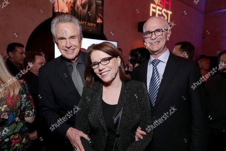 """Director/Writer/Producer/Actor Warren Beatty and Film's Songwriters Lorraine Feather and Eddie Arkin seen at Twentieth Century Fox's """"Rules Don't Apply"""" World Premiere Gala Opening Night Gala Screening after party at AFI FEST 2016, in Los Angeles"""