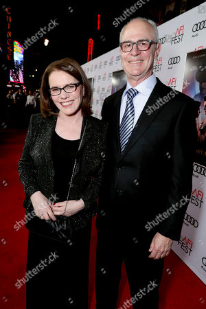 """Stock Image of Film's Songwriters Lorraine Feather and Eddie Arkin seen at Twentieth Century Fox's """"Rules Don't Apply"""" World Premiere Gala Opening Night Gala Screening at AFI FEST 2016, in Los Angeles"""