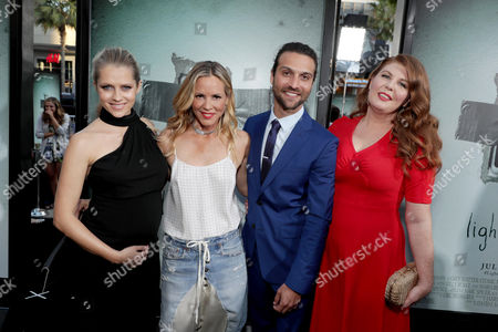 """Teresa Palmer, Maria Bello, Alexander DiPersia and Lotta Losten seen at Warner Bros. Premiere of """"Lights Out"""" at TCL Chinese Theatre, in Los Angeles"""