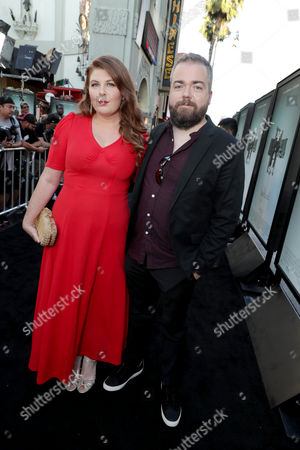 """Lotta Losten and Writer/Director David F. Sandberg seen at Warner Bros. Premiere of """"Lights Out"""" at TCL Chinese Theatre, in Los Angeles"""