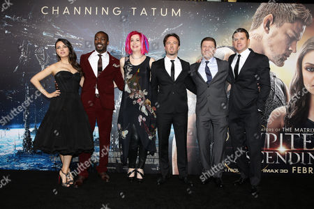 "Mila Kunis, David Ajala, Director/Writer/Producer Lana Wachowski, Kick Gurry, Sean Bean and Channing Tatum seen at Warner Bros' Los Angeles Premiere of ""Jupiter Ascending"", in Los Angeles"