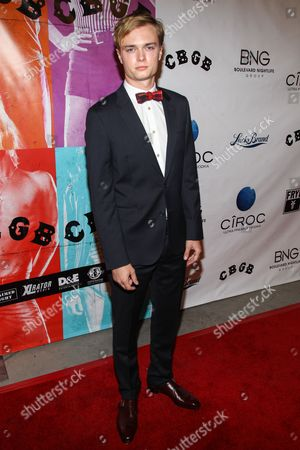 "Actor Keene McRae arrives at the west coast special screening of ""CBGB"" at ArcLight Hollywood on in Los Angeles"