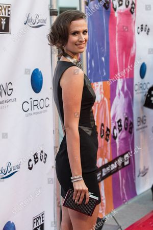 """Actress Katherine DuBois arrives at the west coast special screening of """"CBGB"""" at ArcLight Hollywood on in Los Angeles"""