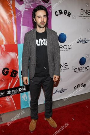 """Actor Josh Zuckerman arrives at the west coast special screening of """"CBGB"""" at ArcLight Hollywood on in Los Angeles"""