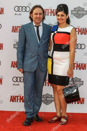 Gregg Turkington, left, attends the world premiere of Marvel's 'Ant-Man' at the Dolby Theatre on in Los Angeles