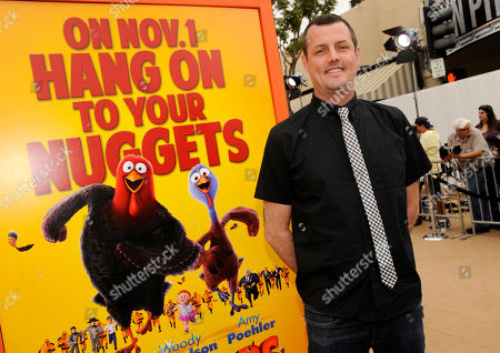 """Jimmy Hayward, writer/director of """"Free Birds,"""" poses at the world premiere of the film at the Regency Village Theater on in Los Angeles"""