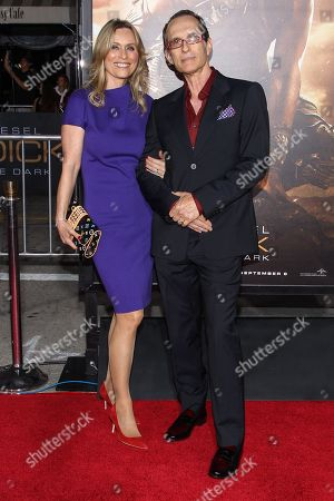 """Stock Photo of Writer/director David Twohy and guest arrive at the world premiere of """"Riddick"""" at the Mann Village Westwood Theater on in Los Angeles"""