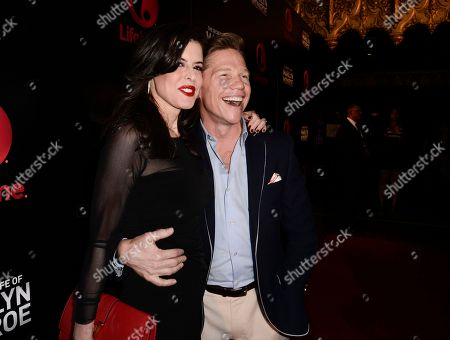 "Actor Jack Noseworthy, right, and executive producer Keri Selig attend the world premiere of the television miniseries ""The Secret Life of Marilyn Monroe"" in Los Angeles on"