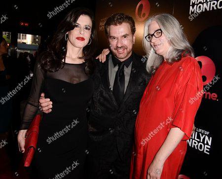 "From right to left, director Laurie Collyer, author J. Randy Taraborrelli, and executive producer Keri Selig attend the world premiere of the television miniseries ""The Secret Life of Marilyn Monroe"" in Los Angeles on"