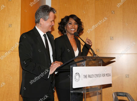 Executive Producer Larry Sanitsky and Director Angela Bassett introduce the Premiere of Lifetime's Whitney at the Paley Center on in Beverly Hills, Calif