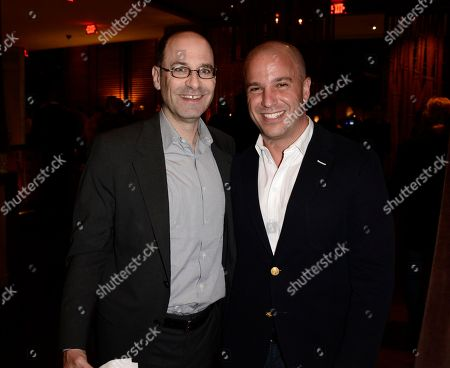 """Columbia Pictures President Doug Belgrad, left, and producer Nathan Kahane at the after party for the world premiere of """"This is the End"""" at the Regency Village Theater on in Los Angeles"""