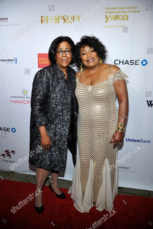 Honorable Jan Perry and YWCA Chief Executive Officer Faye Washington seen at the 2013 Rhapsody Ball, on Friday, Nov, 8, 2013 in Los Angeles