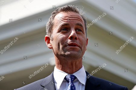 Actor Kirk Cameron, and other pro-life advocates, speaks with the media after a meeting with officials of the Trump administration at the White House, in Washington