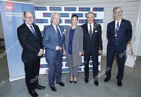 Urban Ahlin, King Carl Gustaf, Crown Princess Victoria, Jan Eliasson, Dan Smith