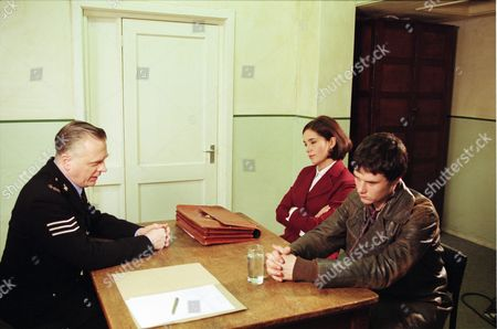 Stock Picture of Philip Franks (as Sergeant Craddock), Fiona Dolman (as Jackie Bradley) and Joel Parry (as Simon Cutler)
