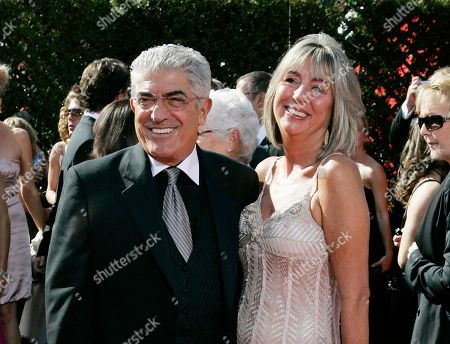 """Actor Frank Vincent and his wife Kathleen arrive for the 59th Primetime Emmy Awards in Los Angeles. Vincent, a veteran character actor who often played tough guys including mob boss Phil Leotardo on """"The Sopranos,"""" died, . He was 80"""