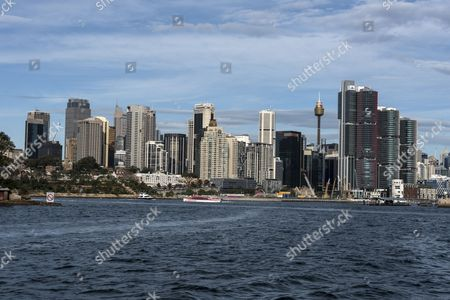 New skyline of central Sydney and Darling Harbour