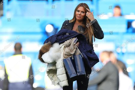 Toni Terry, wife of former Chelsea captain John Terry on the pitch following the match - Chelsea v Arsenal, Premier League, Stamford Bridge, London - 17th September 2017.