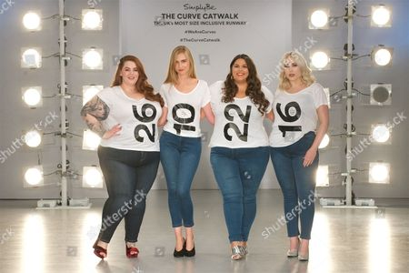 Editorial photo of Simply Be 'The Curve Catwalk', Spring Summer 2018, London Fashion Week, UK - 14 Sep 2017