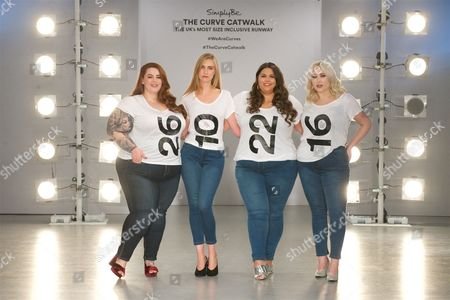 Tess Holliday, Kelly Knox, Callie Thorpe and Hayley Hasselhoff on the catwalk