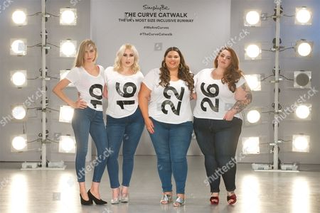 Stock Picture of Tess Holliday, Kelly Knox, Callie Thorpe and Hayley Hasselhoff on the catwalk
