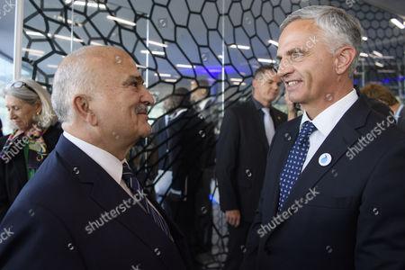 Didier Burkhalter and Prince El Hassan Bin Talal
