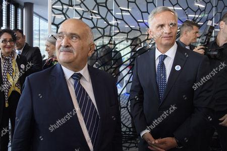 Didier Burkhalter and Prince El Hassan Bin Talal of Jordan