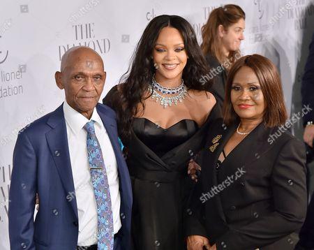 Stock Photo of Lionel Braithwaite, Rihanna and Monica Fenty