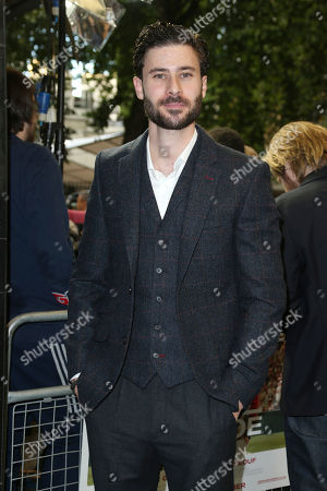 Actor Tom Datnow poses for photographers upon arrival at the premiere of the film 'Borg Vs McEnroe' in London