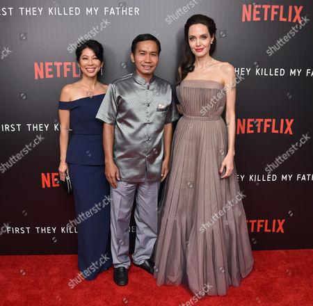 Loung Ung, Kompheak Phoeung and Angelina Jolie