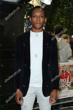 Stock Picture of Actor Jason Forbes poses for photographers upon arrival at the premiere of the film 'Borg Vs McEnroe' in London