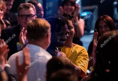 Sampha reacts after being announced as the winner of the Mercury Prize