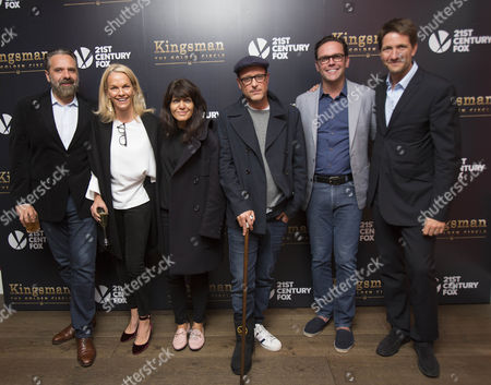 Stock Image of Keith Tyson, Elisabeth Murdoch, Claudia Winkleman, Matthew Vaughn, James Murdoch and Kris Thykier.