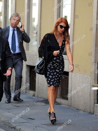 Stock Picture of Enrico Preziosi and wife