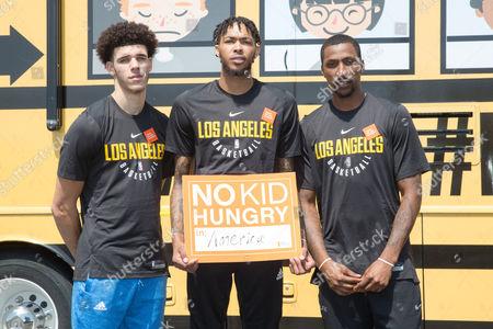Lonzo Ball, Brandon Ingram, Kentavious Caldwell-Pope