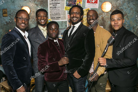 Ian Carlyle (Four-Eyed Moe), Dex Lee (Know Moe), Idriss Kargbo (Little Moe), Edward Baruwa (Nomax), Horace Oliver (Big Moe) and Emile Ruddock (Eat Moe)