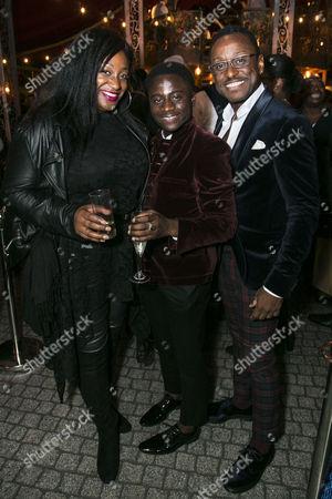 Sandra Marvin, Idriss Kargbo (Little Moe) and Ian Carlyle (Four-Eyed Moe)