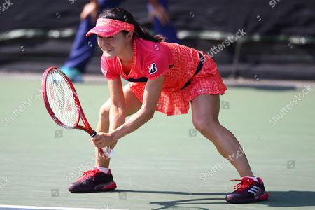 Stock Picture of Shuko Aoyama Doubles 2nd round match between Zhaoxuan Yang and Shuko Aoyama - Chen Liang and Arina Rodionova