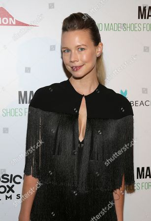 "Fashion designer Erin Fetherston attends the world premiere of, ""Manolo: The Boy Who Made Shoes For Lizards"", hosted by Manolo Blahnik and The Cinema Society, at The Frick Collection, in New York"
