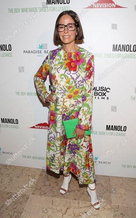 """Allison Sarofim attends the world premiere of, """"Manolo: The Boy Who Made Shoes For Lizards"""", hosted by Manolo Blahnik and The Cinema Society, at The Frick Collection, in New York"""