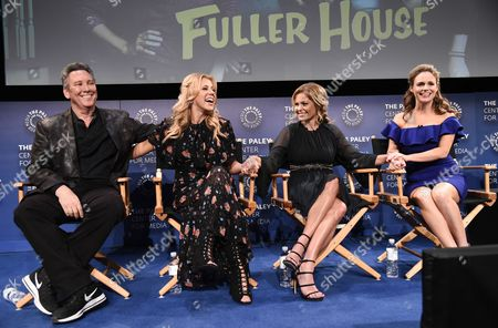 Show creator Jeff Franklin, Jodie Sweetin, Candace Cameron Bure, and Andrea Barber