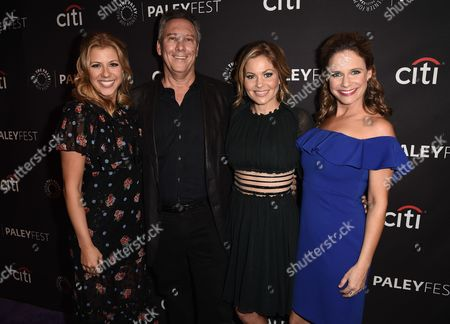 Jodie Sweetin, show creator Jeff Franklin Candace Cameron Bure, and Andrea Barber