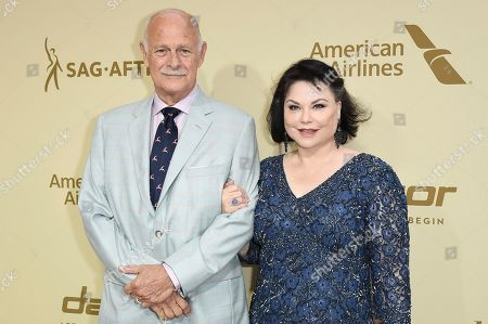 Stock Image of Gerald McRaney, Delta Burke. Gerald McRaney, left, and Delta Burke attend the THR and SAG-AFTRA Nominees Night at the Waldorf Astoria, in Beverly Hills, Calif
