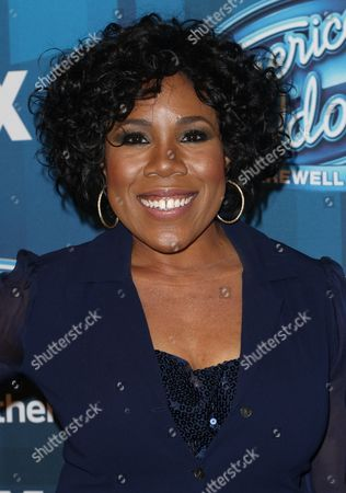 """Stock Picture of Melinda Doolittle arrives at the """"American Idol"""" farewell season finale at the Dolby Theatre, in Los Angeles"""