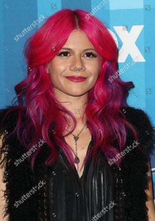 """Allison Iraheta arrives at the """"American Idol"""" farewell season finale at the Dolby Theatre, in Los Angeles"""