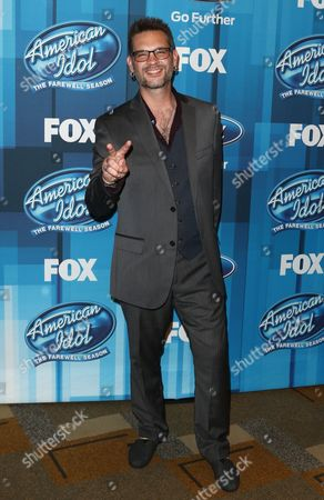 """Stock Photo of Bo Bice arrives at the """"American Idol"""" farewell season finale at the Dolby Theatre, in Los Angeles"""