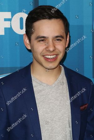 """David Archuleta arrives at the """"American Idol"""" farewell season finale at the Dolby Theatre, in Los Angeles"""