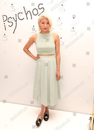 """May Kwok seen at the """"Psychos"""" by Babe Walker Book Party at Alice and Olivia, in New York, New York"""